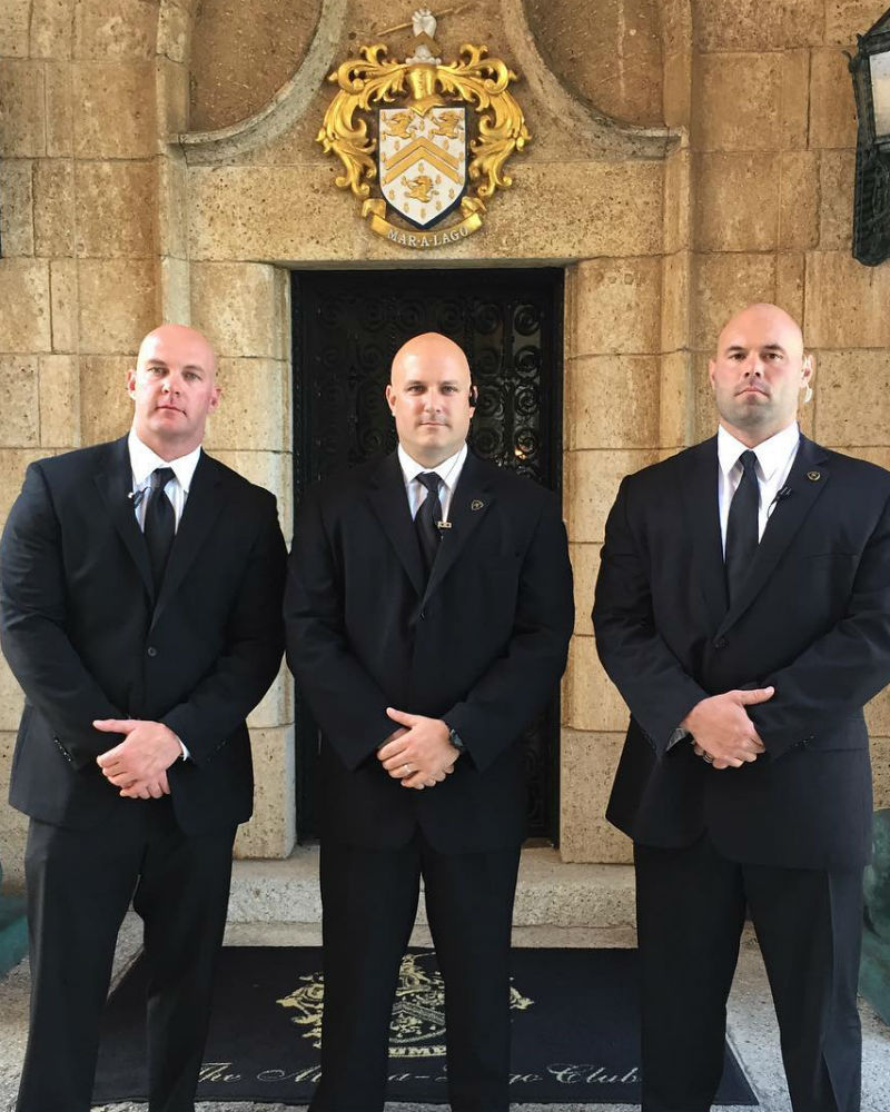 Executive Security Services Detail of 3 Guauds at Private Event